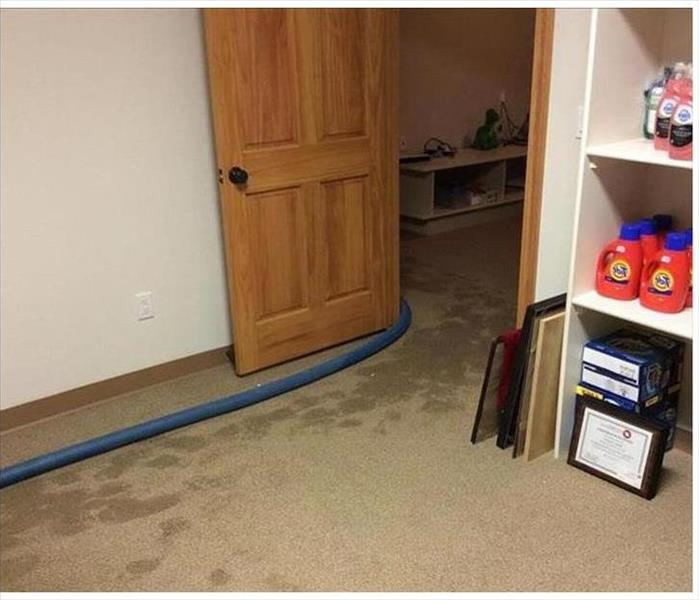 Water Damage Hobby Room in Marina del Rey Before