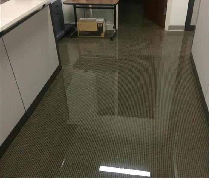 Marina Del Rey Office is Water Damaged Before