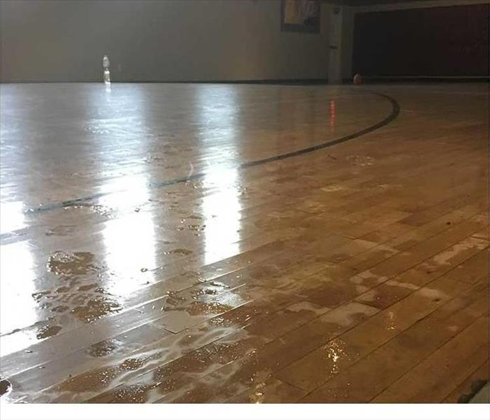 Basketball Court Dribbles with Water