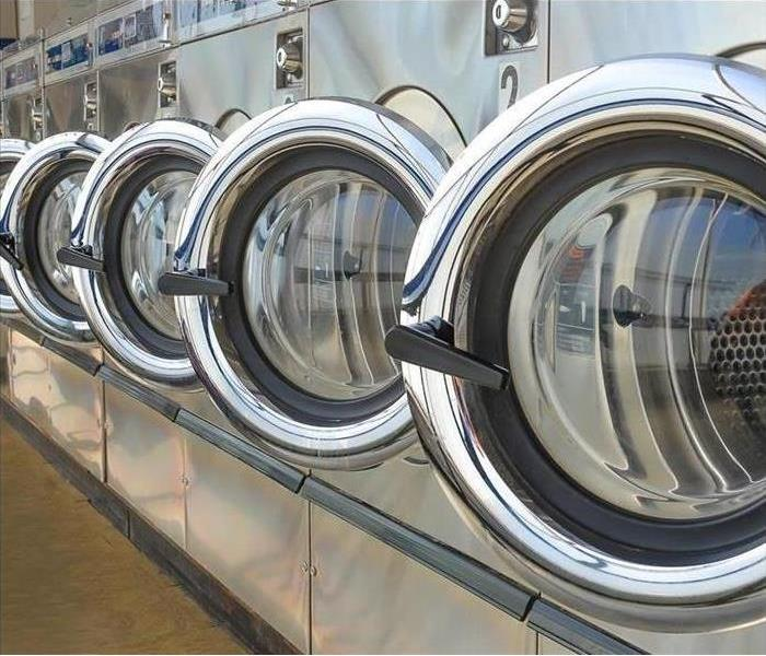 A Set of commercial washing machines.